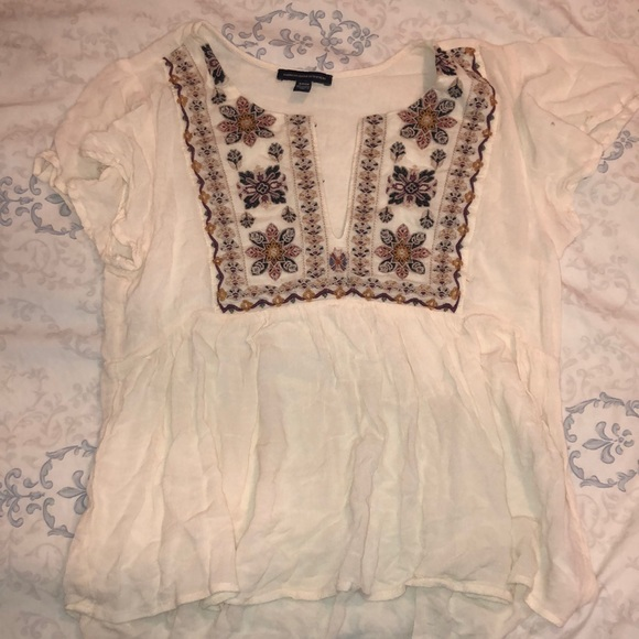 American Eagle Outfitters Tops - Cream top